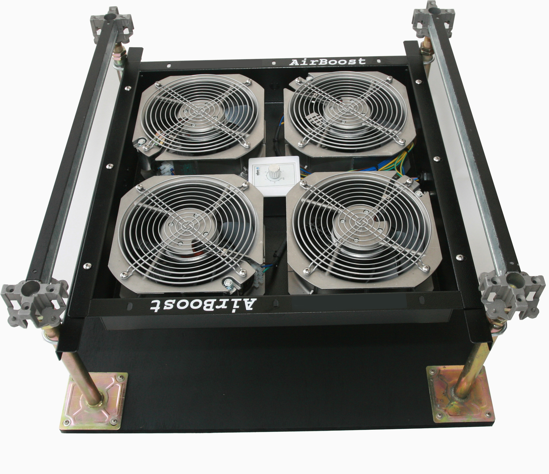 AirBoost Under Floor Fan System installation