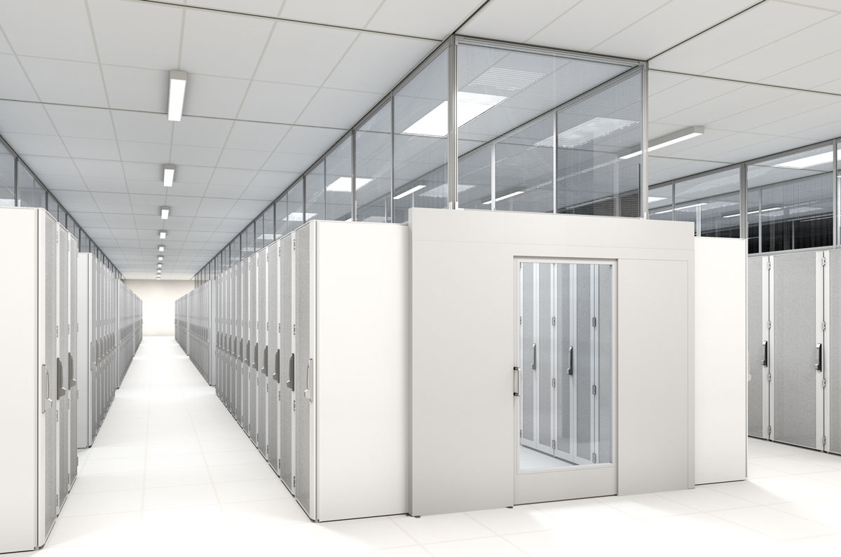 aisle containment system rendering - white