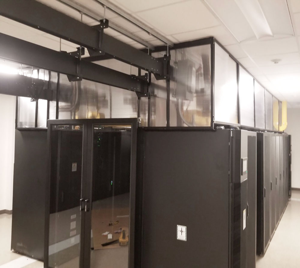 Fixed Vertical Panels for Aisle Containment Systems
