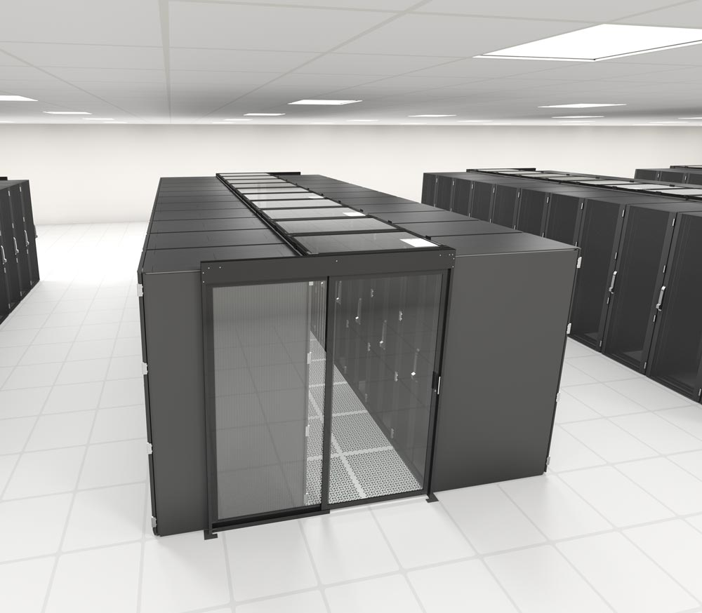 Single Sliding Door For Aisle Containment In Data Centers