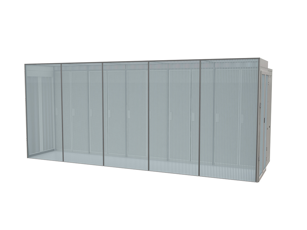 aisle containment panel walls rendering
