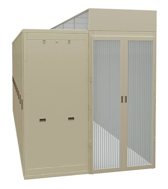 Double Hinged Aisle Containment Door