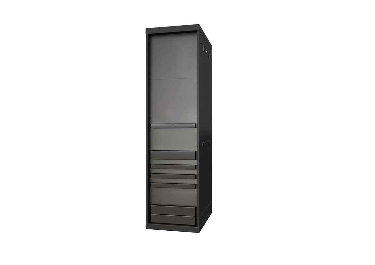 Individual blanking panels rendering in server rack
