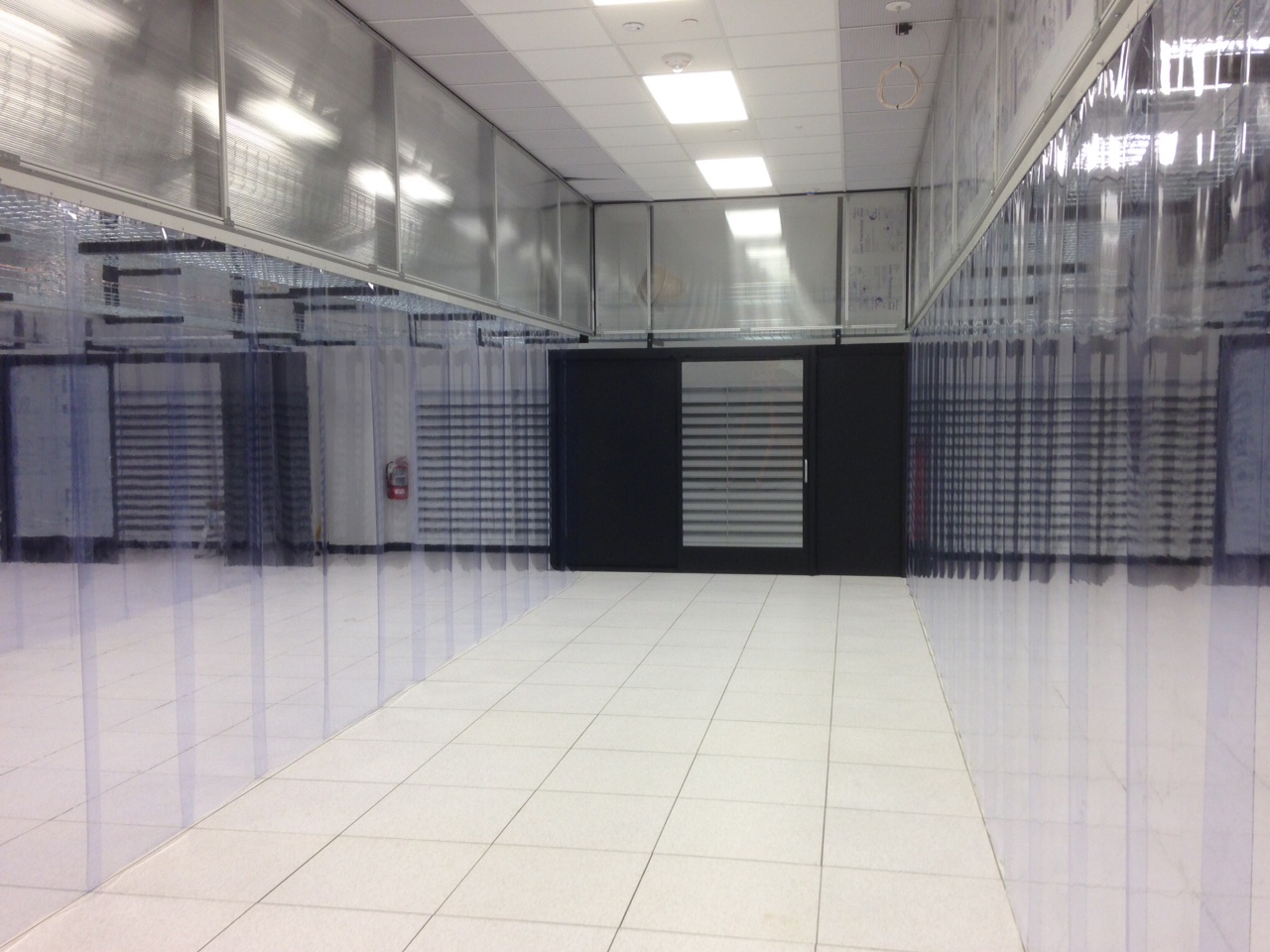 Overlapping Strip Curtains For Aisle Contaiment In Data Centers