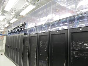 retrofit containment design shown in a data center