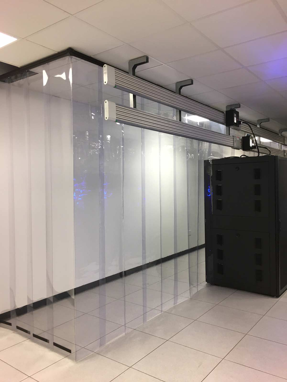 Aisle Containment E84 Strip Curtains 2 - Containment Strip Walls