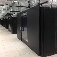 sliding containment doors multiple aisle systems in data center