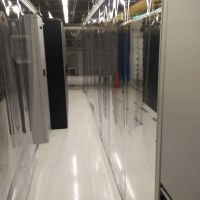 aisle containment strip curtain wall