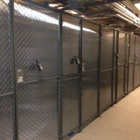 Aisle containment walls in data center