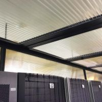 Thermal drop ceiling panel in cold aisle